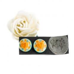 mini uhani iz keramike