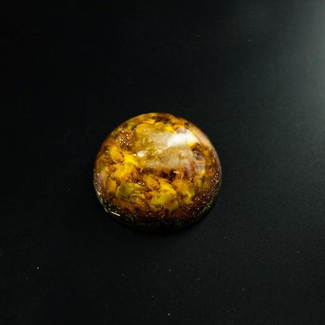 Orgonit s kristalom CITRIN - kristal razcveta - odpravlja slabo počutje, raztaplja negativna stanja, dviguje samozavest.