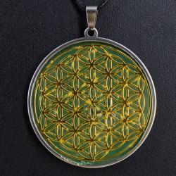 Ogrlica roža življenja s kristalom  KAMENE STRELE.