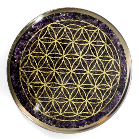 Orgone, Orgonite, plate, AMethyst, protection, 5G