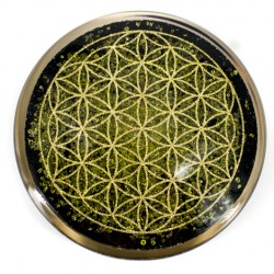 Peridot, Orgone plate, Orgonite, Protection, 5G