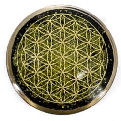Peridot, Orgone plate, Orgonite, Protection, 5G