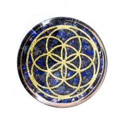 Lapis lazuli, orgonit, orgonitni podstavek, kristal, kristali, zaščita