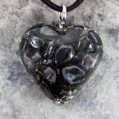 kristal hematit, ogrlica srček