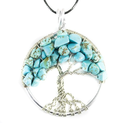 ogrlica turkiz drevo življenja