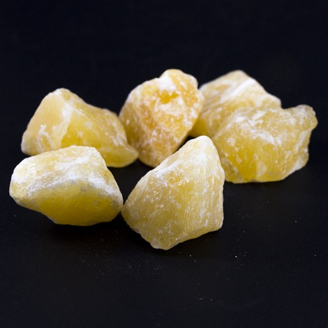 yellow calcite, natural crystal