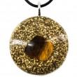 Okrogla ogrlica orgonit tigrovo oko  zaščita pred sevanjem trgovina s kristali energijski nakit