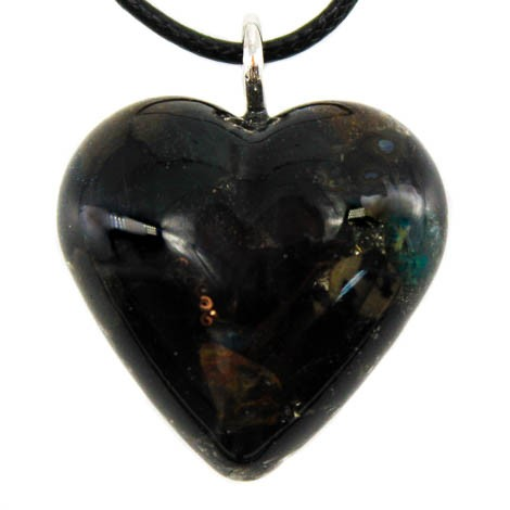 Black tourmaline crystal heart energy jewelry harmful emissions grounding protection