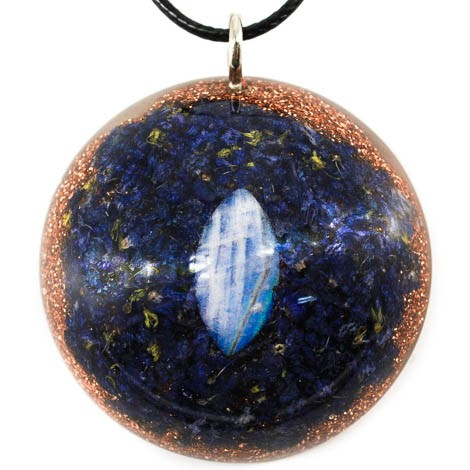 moonstone orgonite necklace menstrual cramps menopause emotions fear energy jewelry