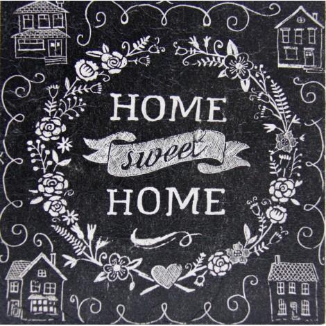 home sweet home slika decoupage kuhinjska