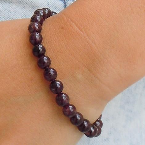 garnet bracelet, energy jewelry