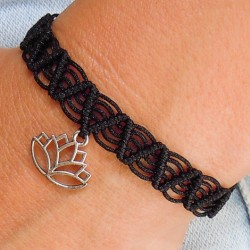 FRIENDSHIP BRACELET Lotus black