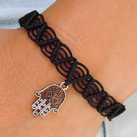 FRIENDSHIP BRACELET hamsa black