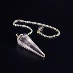 CLEAR QUARTZ pendulum, crystal, divination, radiosthesia