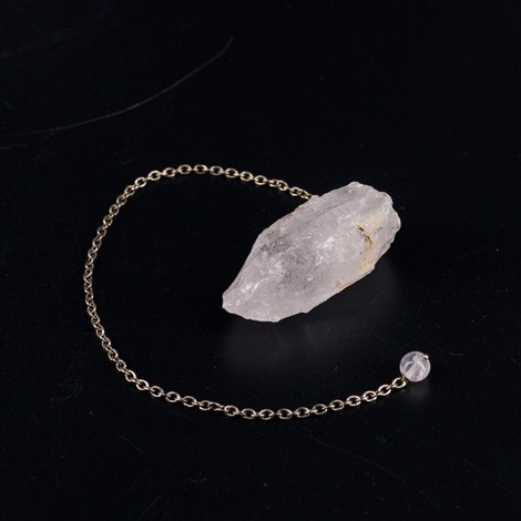 natural QUARTZ pendulum, crystal, divination, radiosthesia