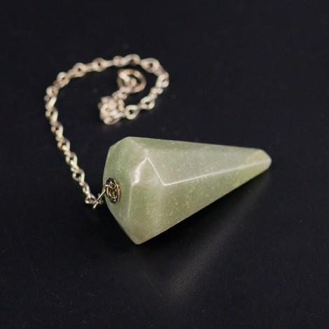 aventurine pendulum, crystal, divination, radiosthesia