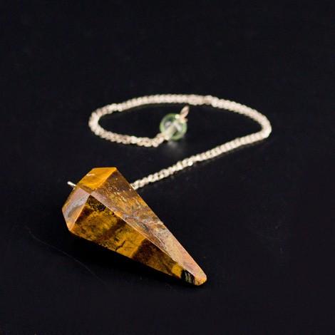 tiger eye pendulum, crystal, divination, radiosthesia