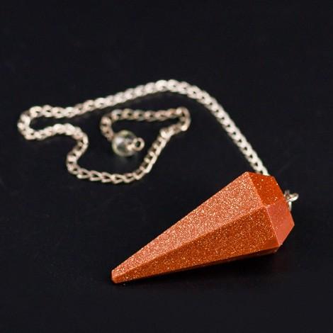 SUNSTONE pendulum, crystal, divination, radiosthesia