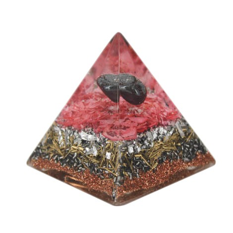 Orgonite, crystal, hematite, energy, emissions protection, pyramid