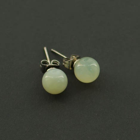 mini earrings with semi-precious stones, AVENTURINE LIGHT