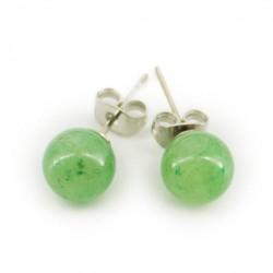 earrings with semi-precious stones, AVENTURINE