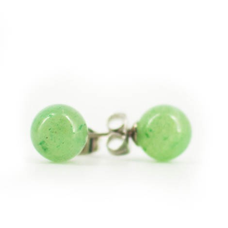 mini earrings with semi-precious stones, AVENTURINE