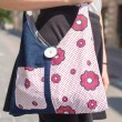UNIQUE HANDMADE BAG MADE OF JEANS AND PRINTED COTTON, BAG FOR YOUTH, TEXTILE BAG, denim