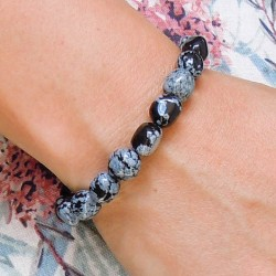 SNOWFLAKE OBSIDIAN bracelet energy jewelry