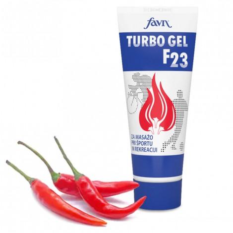 TURBO GEL F23, gel za ogrevanje in masažo, masaža po športnih aktivnostih, gel s čilijem, čili