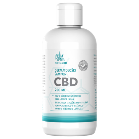 DERMATOLOGIC SHAMPOO CBD, naturally prevents dandruff, suitable for daily care of scalp and hair, sooth and stimulate the scalp