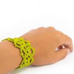 CROCHET BRACELET green, handmade