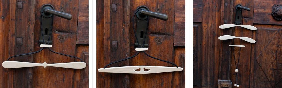 obešalnik za obleko lesen