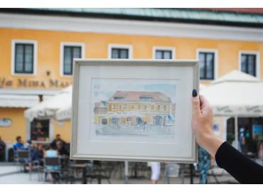 Razstava Kamnik v akvarelu - Kotiček pod srečno zvezdo